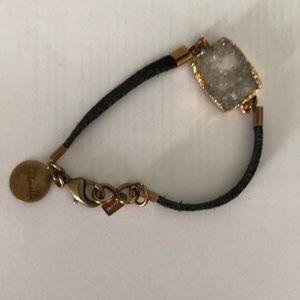 *Feature* Gemelli Jewelry Leather-Stone Bracelet